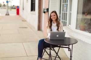 Rita Julian Bookkeeper sitting outside in Cookeville Tennessee
