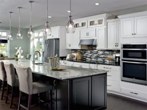 AristroKraft cabinets maple-with-white-Landen-Cabinets