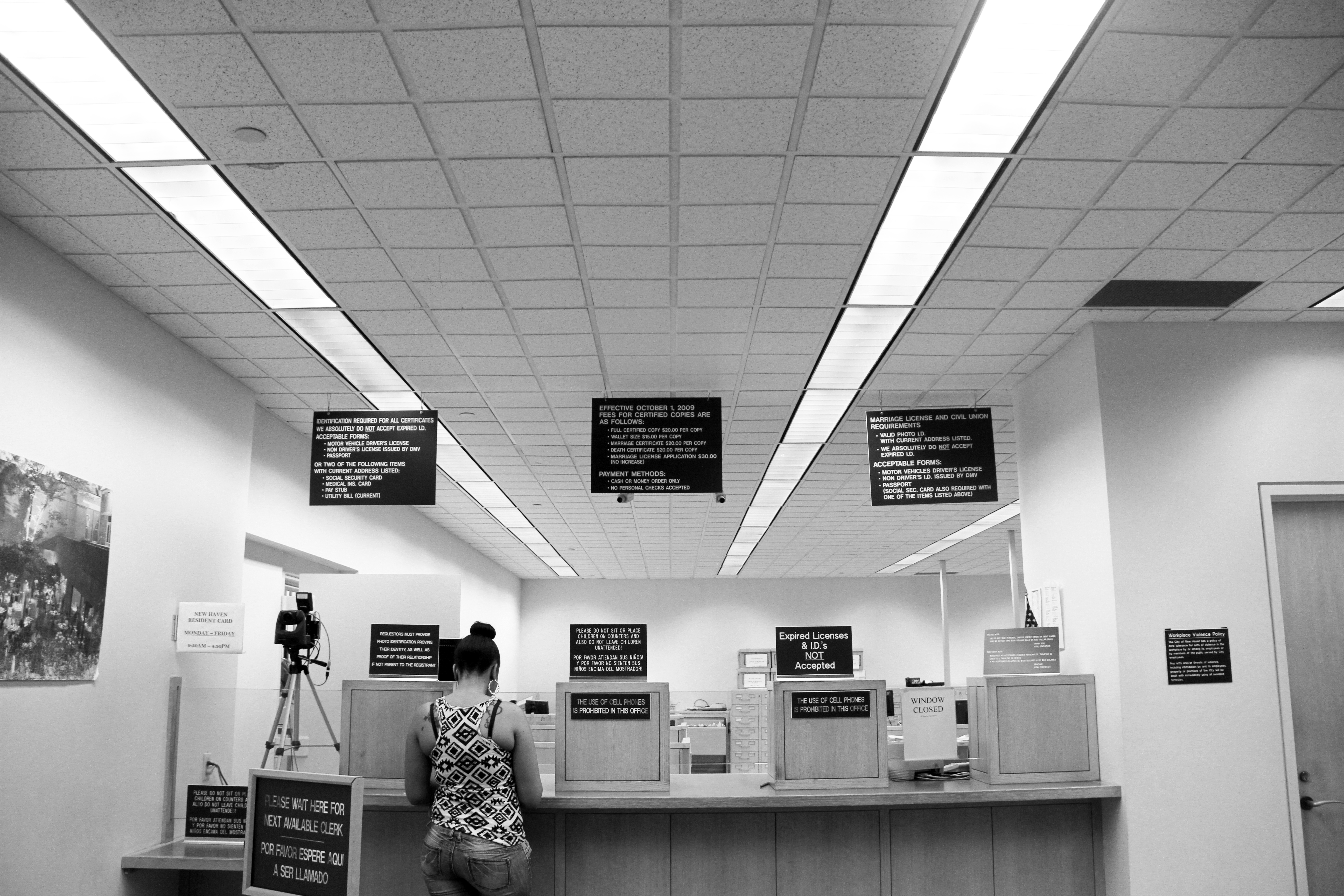 Under New Haven's municipal ID law, residents can apply for an ID at the Office of Vital Statistics at City Hall without proof of immigration status.