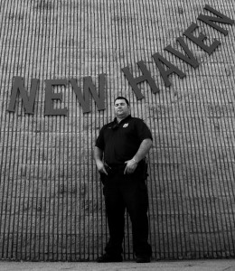 Officer Mike Pepe is one of the New Haven police officers trained to respond to individuals with mental illness. Photo by Jennifer Lu.