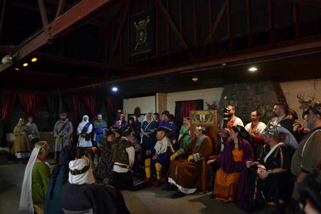 The knighting ceremony.
