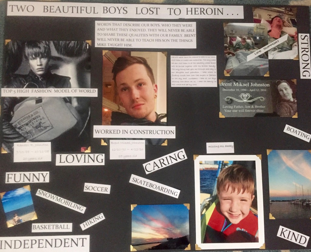A collage of Brent and Randy, which their mother Karine made for the sentencing hearing of Timothy Paprocki. (Credit to Karine Heard)