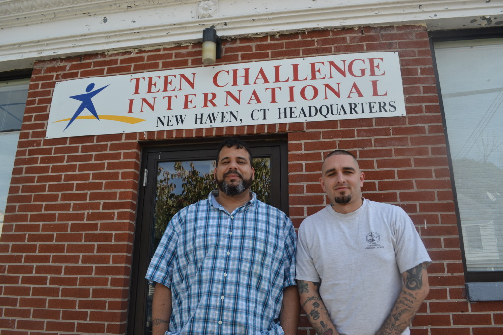 Manny Barreto (left) and Steve Stokes (right), supervisors at Teen Challenge (Credit to Daisy Massey)