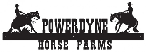 Powerdyne Horse Farms Sign