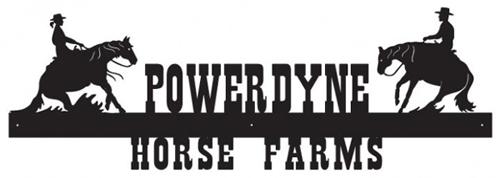 Powerdyne Horse Farms Sign