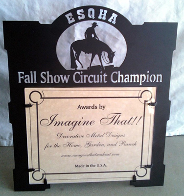 ESQHA Fall Show Circuit Champion Sign