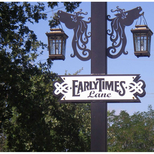 Early Times Lane Street Sign
