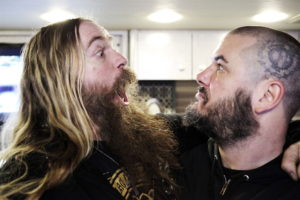 SAYREVILLE, NJ - MAY 09:  Zakk Wylde of Black Label Society and Phil Anselmo of Down backstage at Starland Ballroom on May 9, 2014 in Sayreville, New Jersey.  (Photo by Mark Weiss/Getty Images)