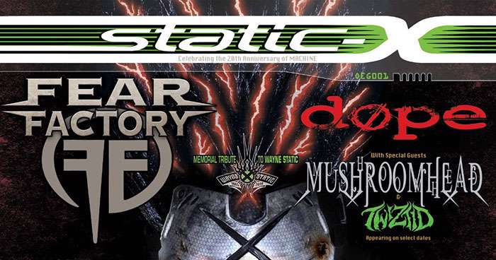 STATIC-X – 2022 North American Headliner Dates With FEAR FACTORY