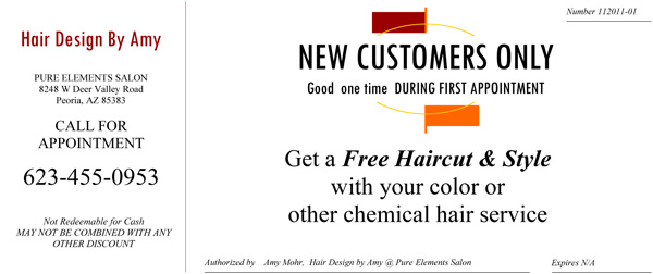New Customer Free Cut Special