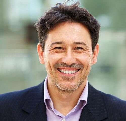 Man in suit Smiling