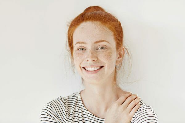 Red Haired Woman Smiling