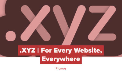 .XYZ Promotion: For Every Website. Everywhere.