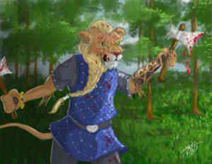 Viking Lion: Photoshop