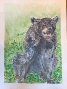 Bear: 9 x 12 Gouache