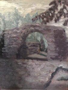 Grays: Mayan Ruins: 11 x 14 Oil