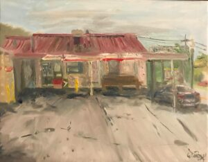 Johnnie's Drive In: 11 x 14 Oil