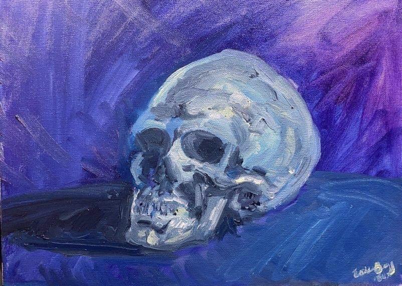 Skull:  Oil 16 x 20