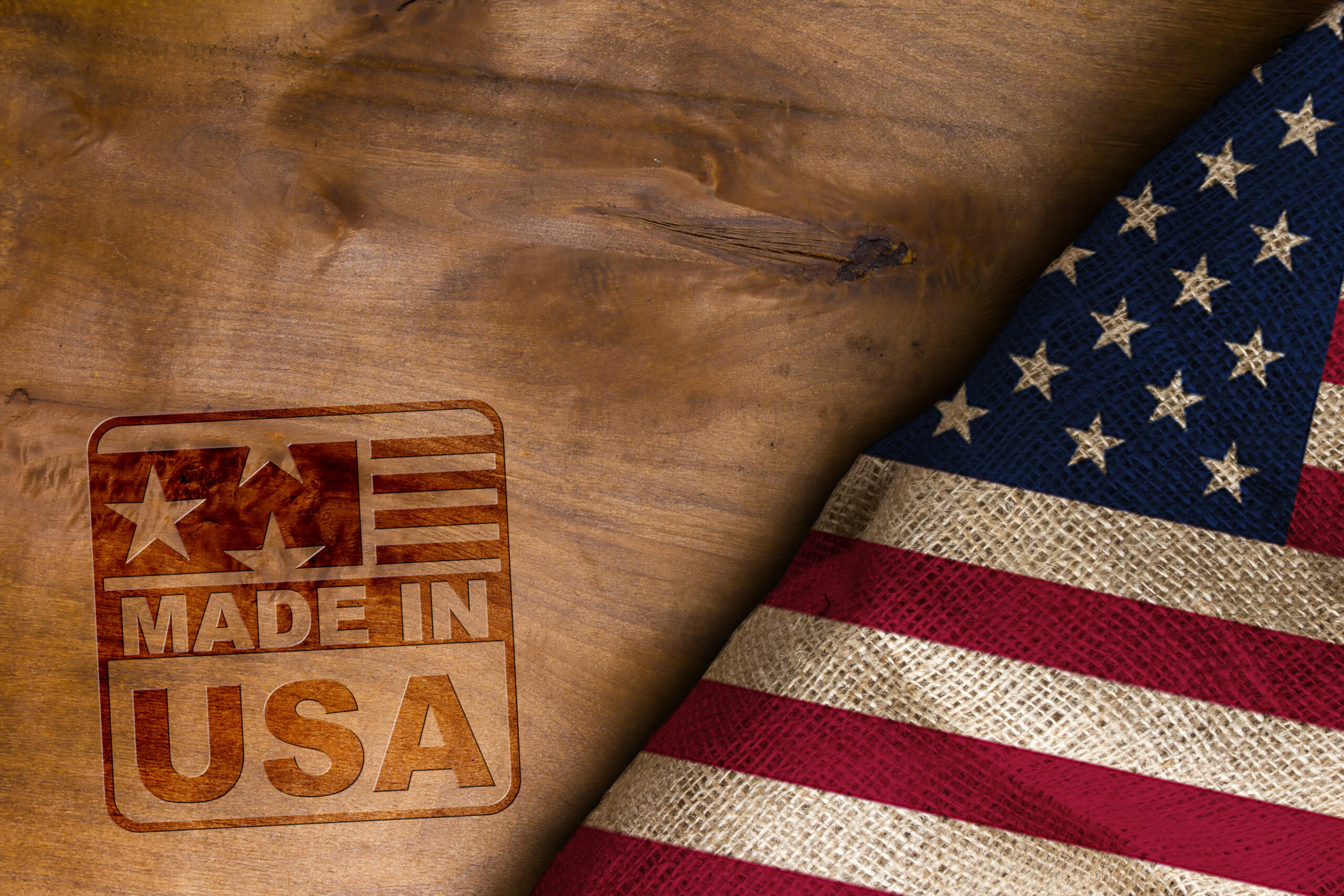 made in usa stamped on wood