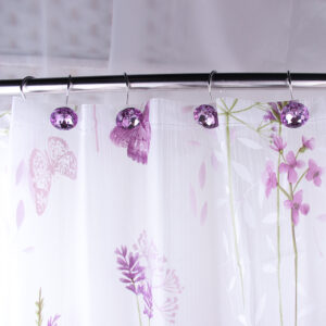 Adwaita shower curtains and hooks