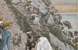 The Swine Driven into the Sea by Tissot Life choices and artwork with biblical themes
