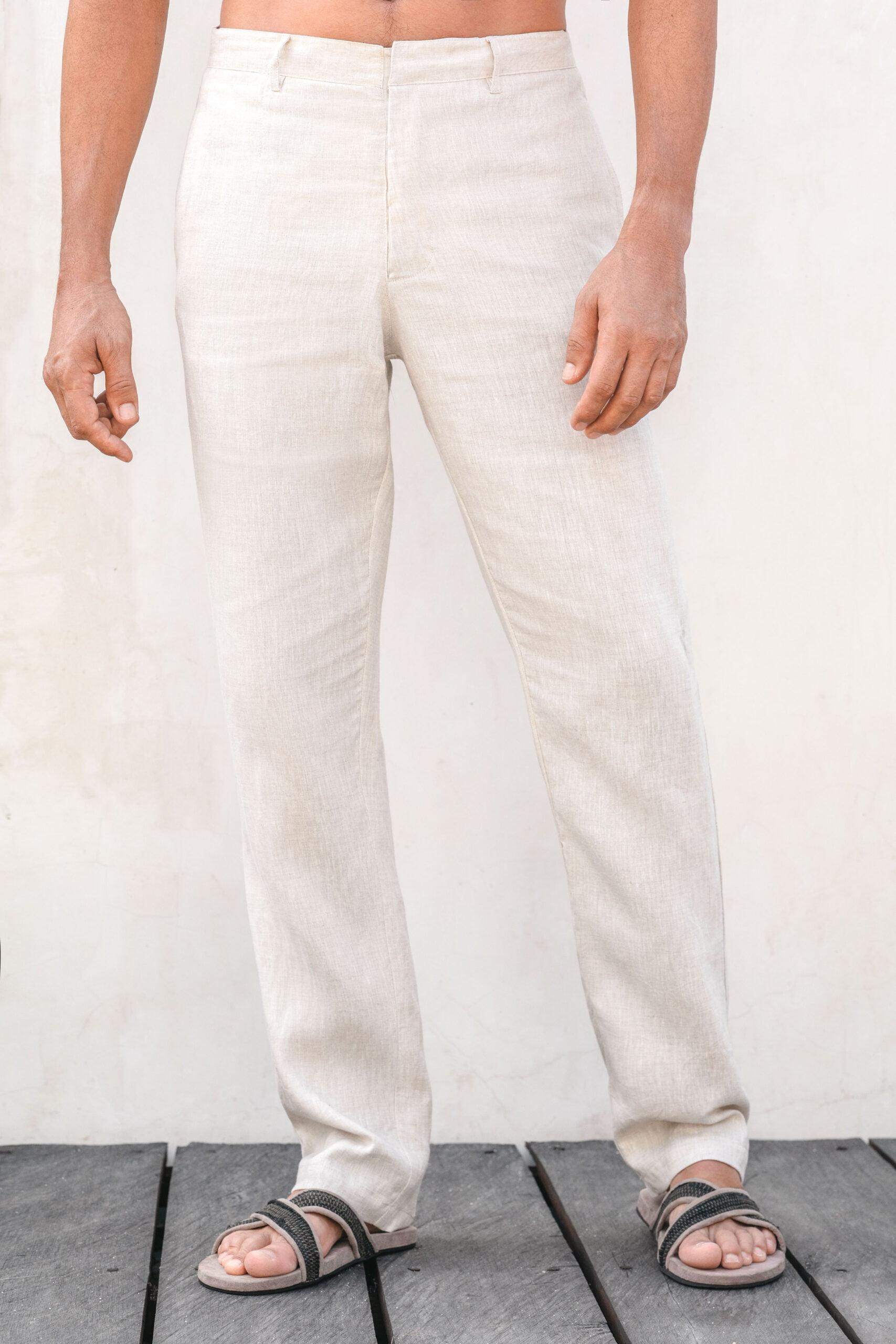 Nuage classic fit linen pants