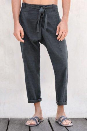 Shaba urban zen cotton handwoven pants midnight navy