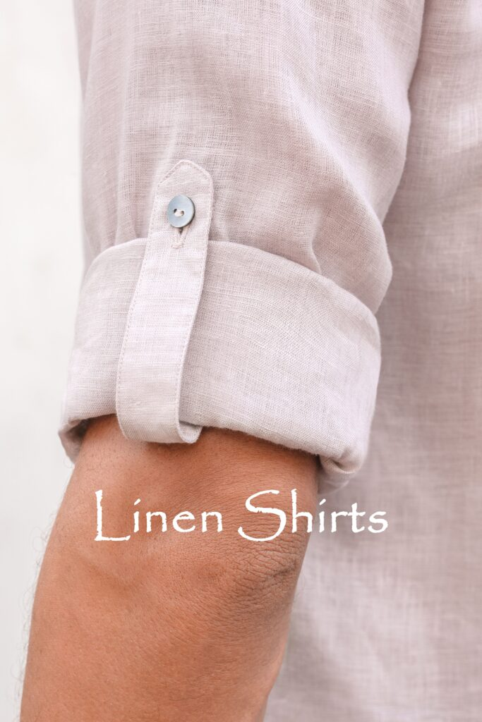 Quality linen men's clothing, ethical production in Bali. Natural fabric - Linen - Pima cotton - Handwoven cotton - Artisan scarfs