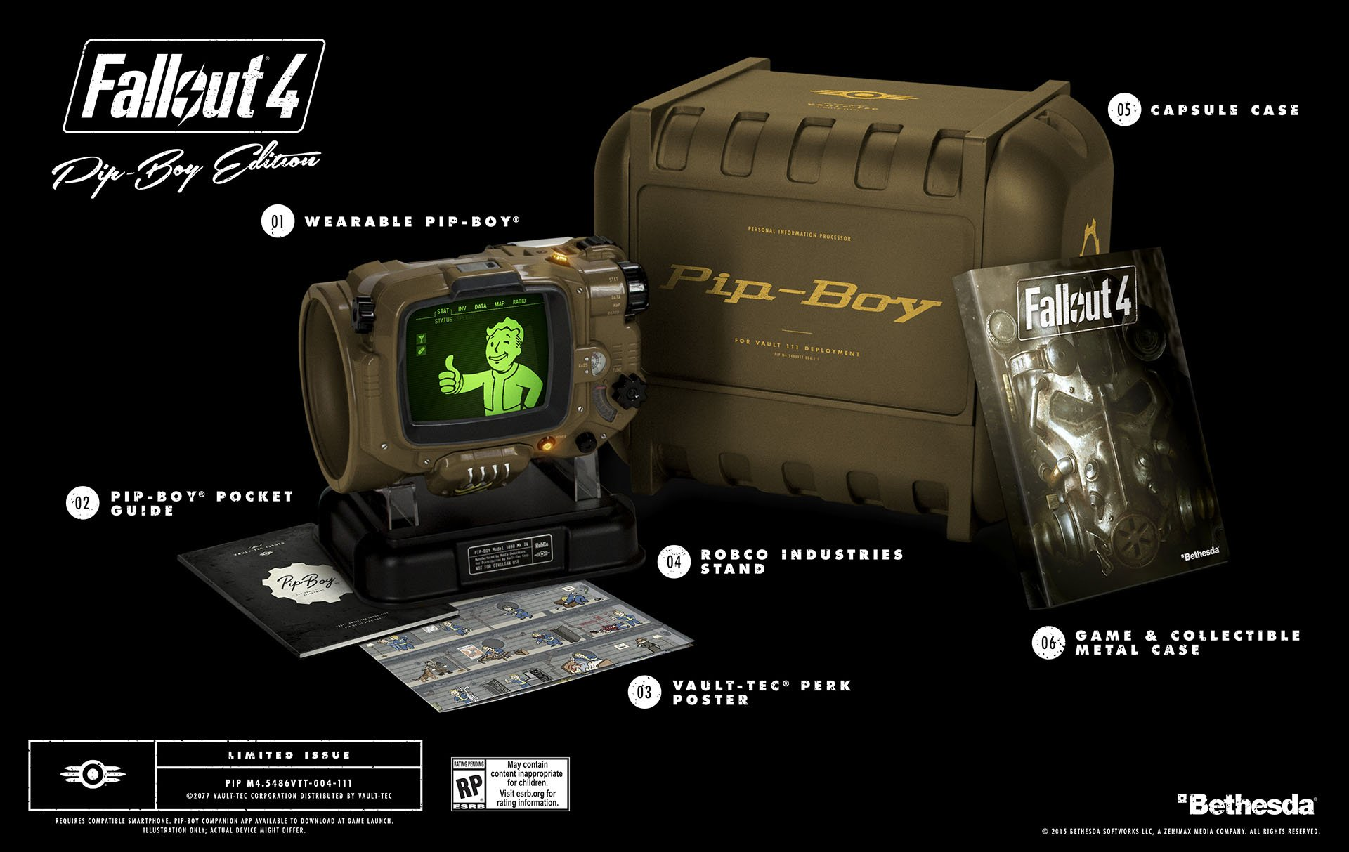 Fallout 4 Pip-Boy RED MENACE EGLA