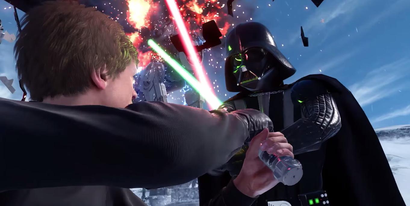 Star Wars Battlefront Luke y Darth Vader