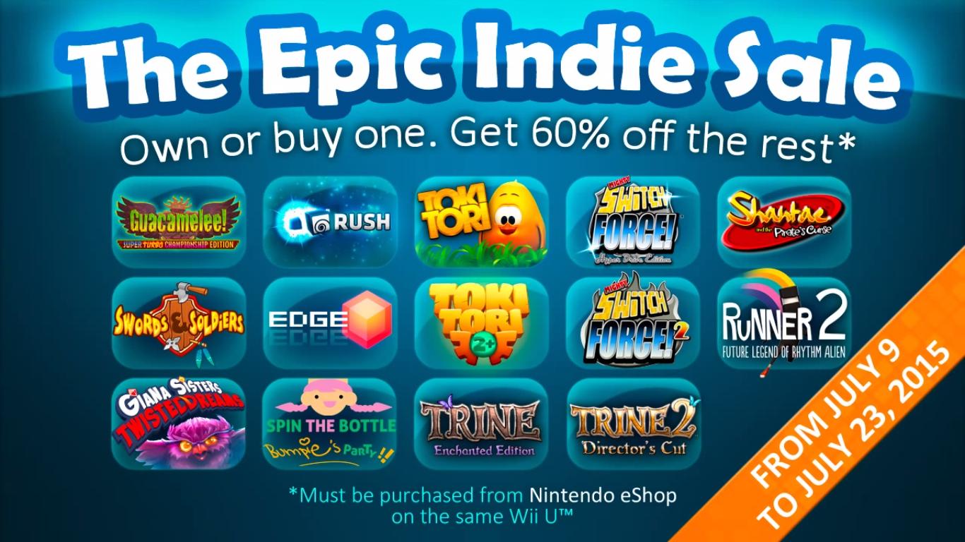 Epic Indie Sale Wii U