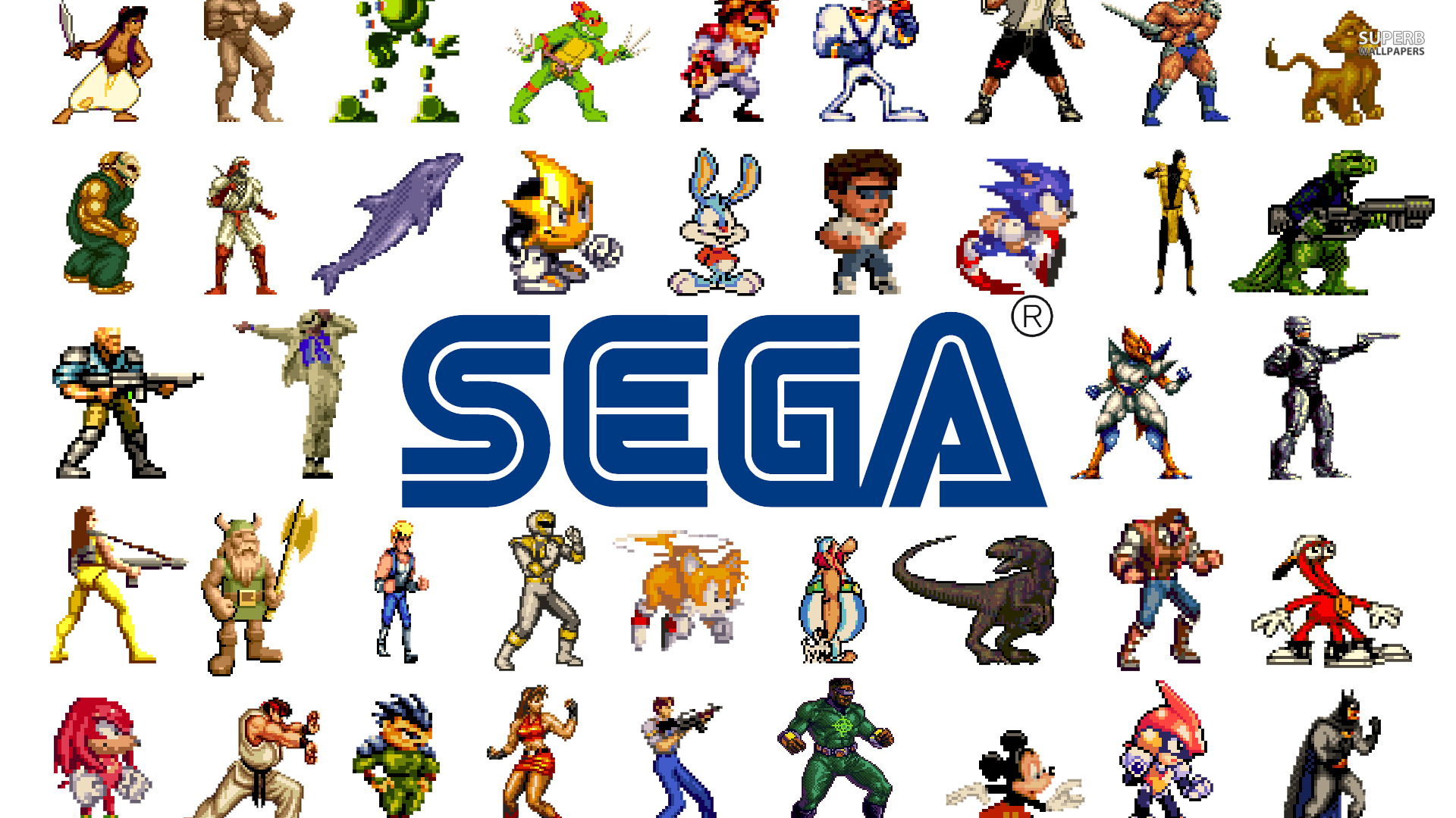Sega logo and chars
