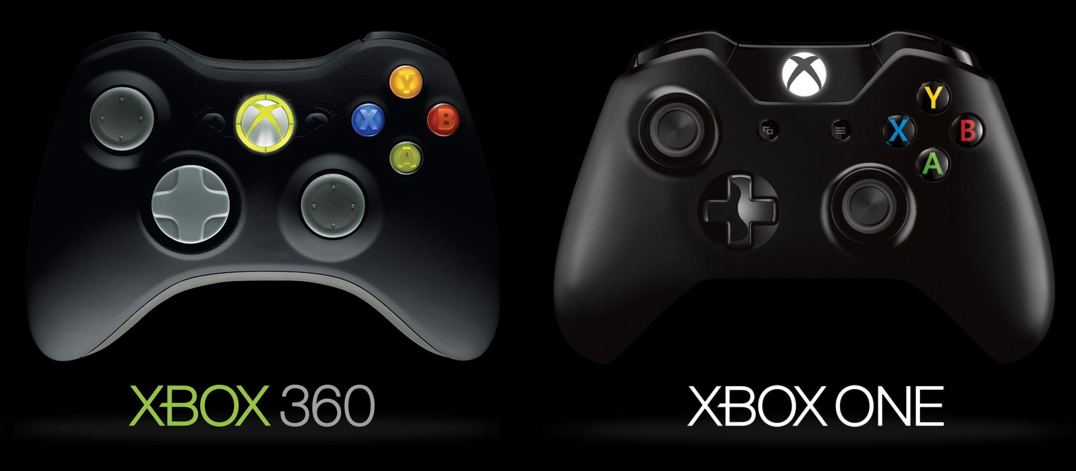 Controles de Xbox One y Xbox 360 egla