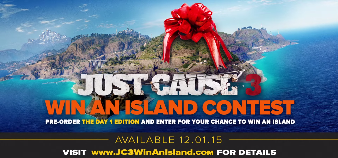 Just cause 3 win an island contest