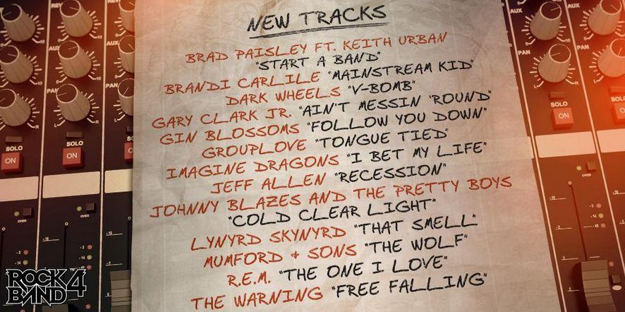 Rock Band 4 ultimas 13 canciones