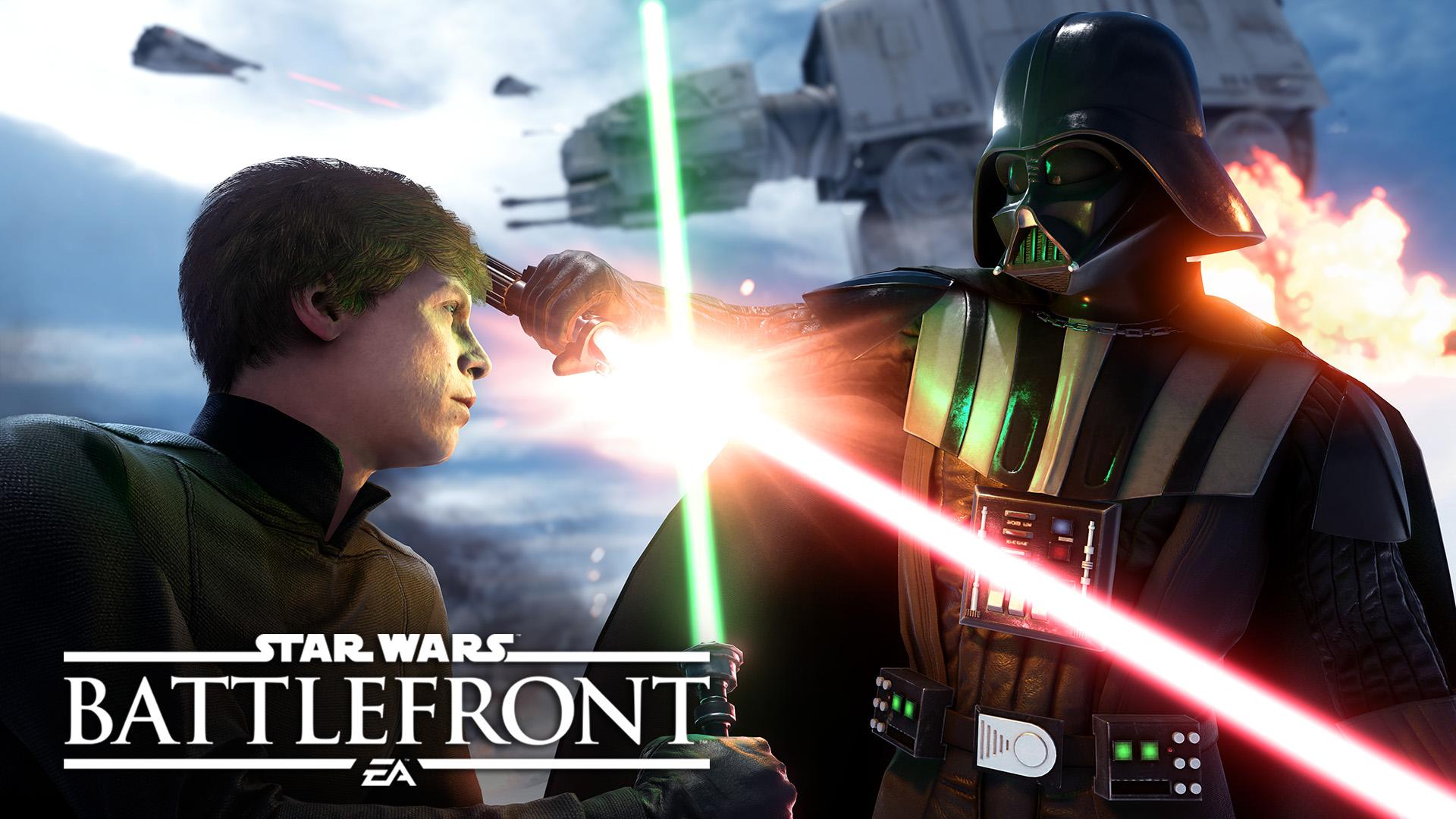 Star Wars Battlefront luke vs vader