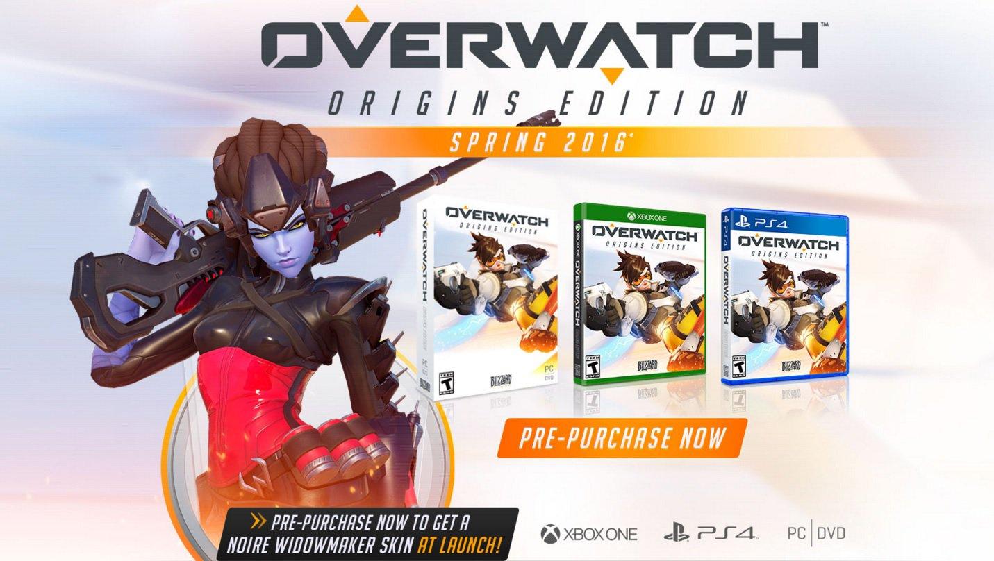 Overwatch pc xbox one ps4