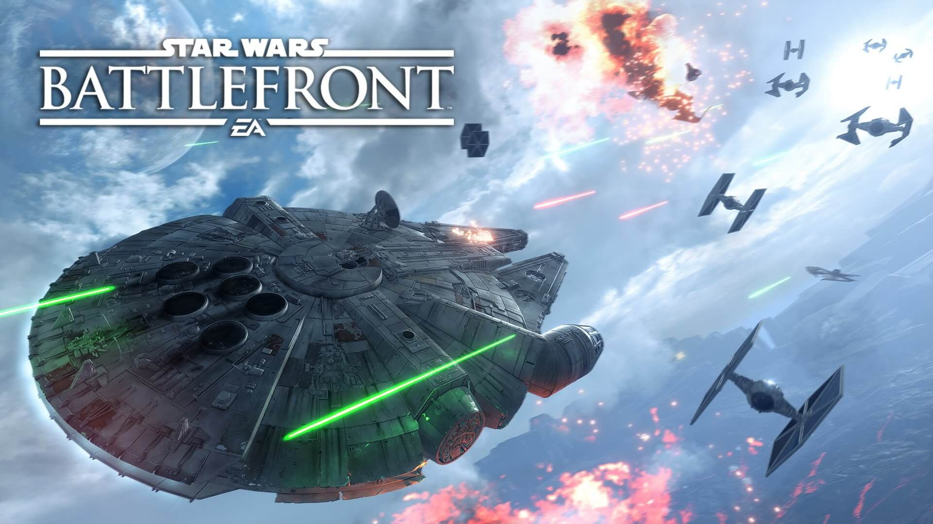 Star Wars Battlefront halcon milenario dogfight