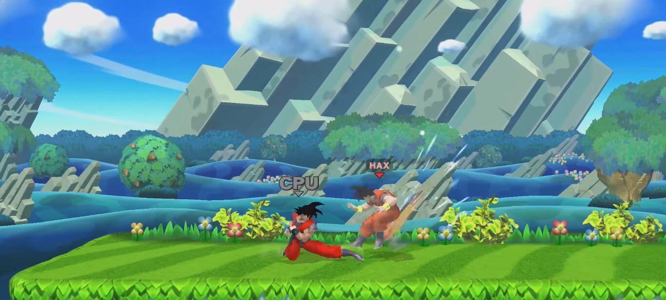 Goku en Super Smash Bros