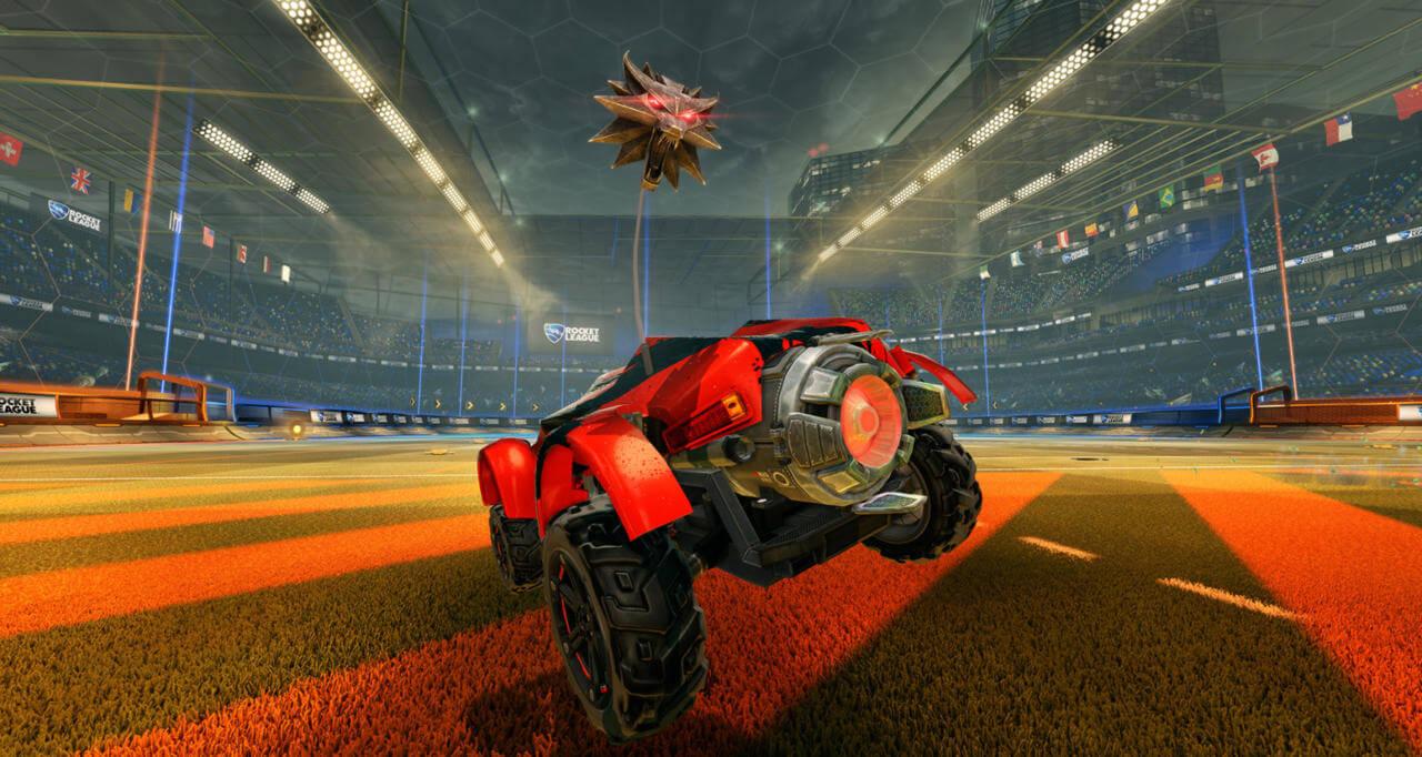 The witcher car rocket league