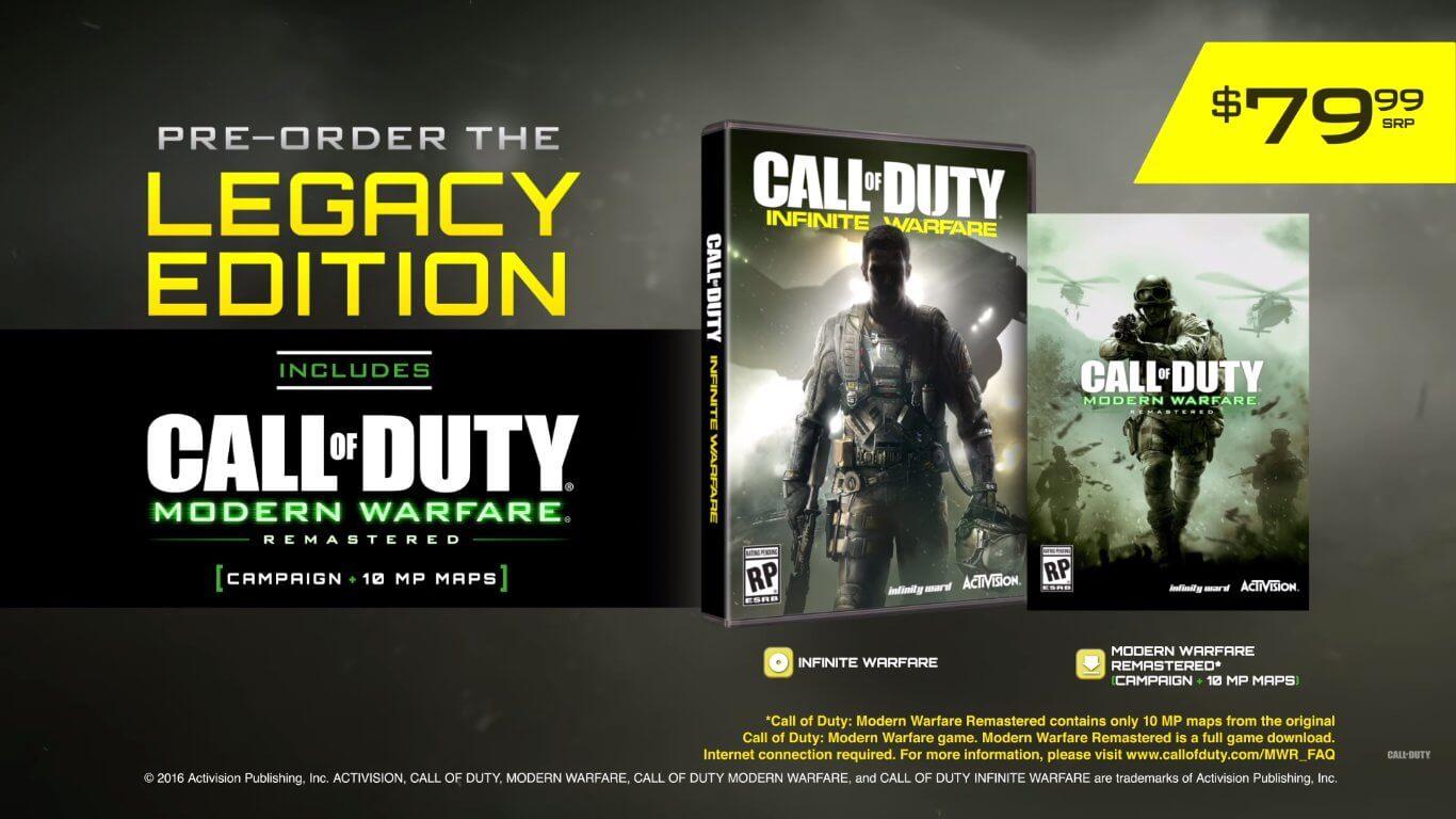 Call of duty infinite warfare modern warfare remastered