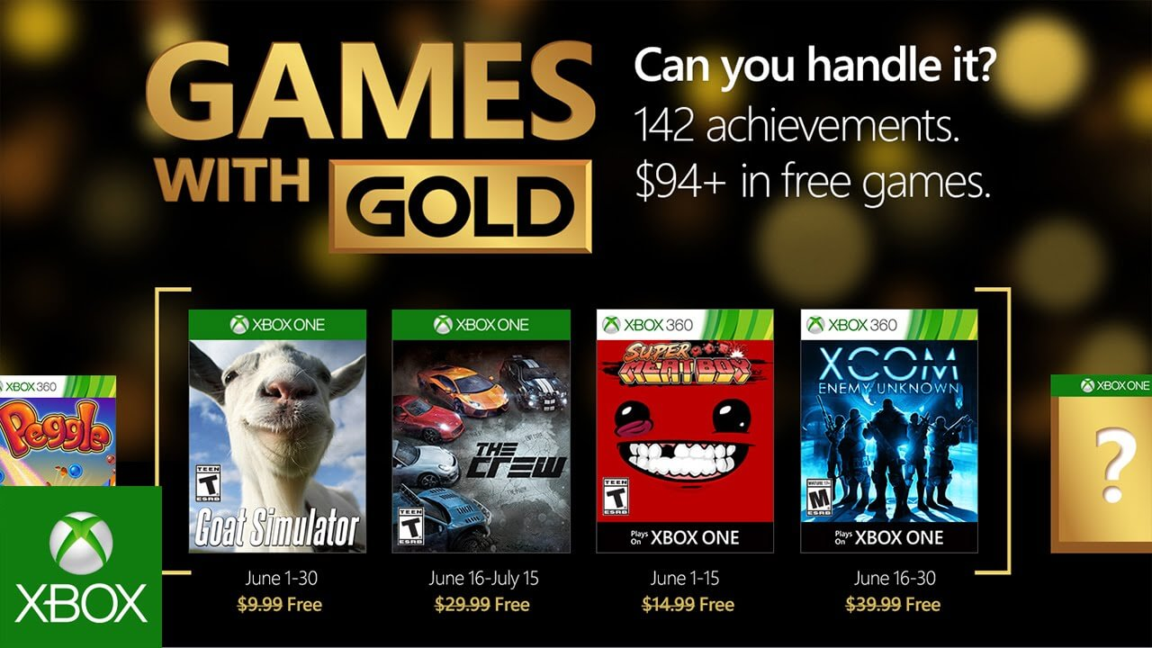 Games with Gold junio 2016