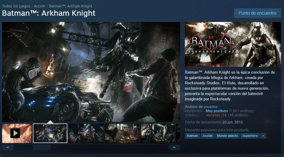Batman Arkham Knight para PC Steam