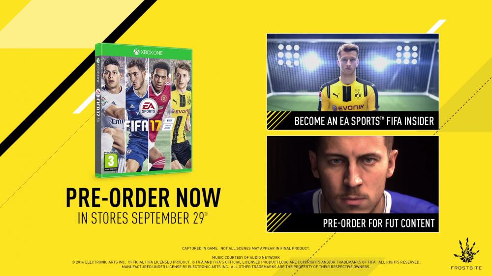 FIFA 17 Pre-Order EGLA