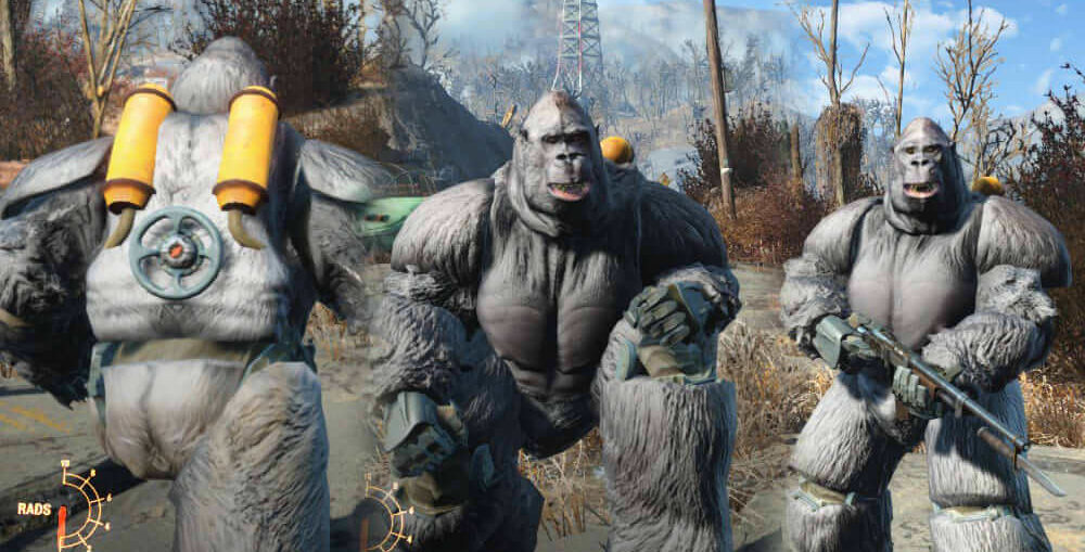 Fallout 4 mods gorilla suits