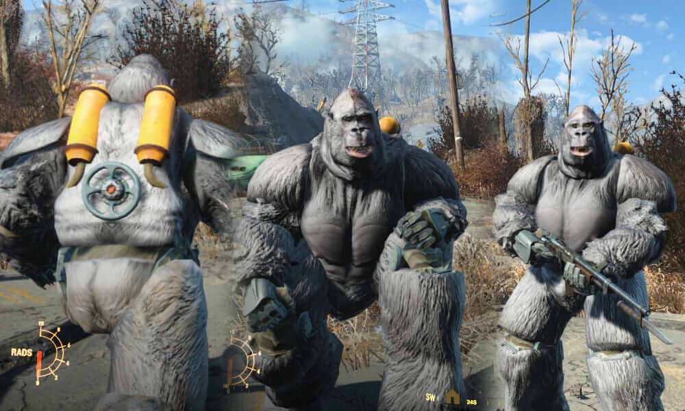 Fallout 4 mods gorilla suits