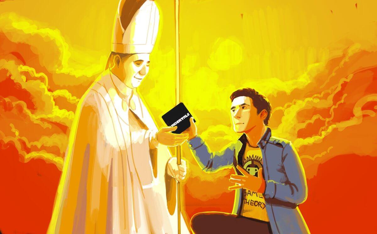 Game Theorist le dio Undertale al papa