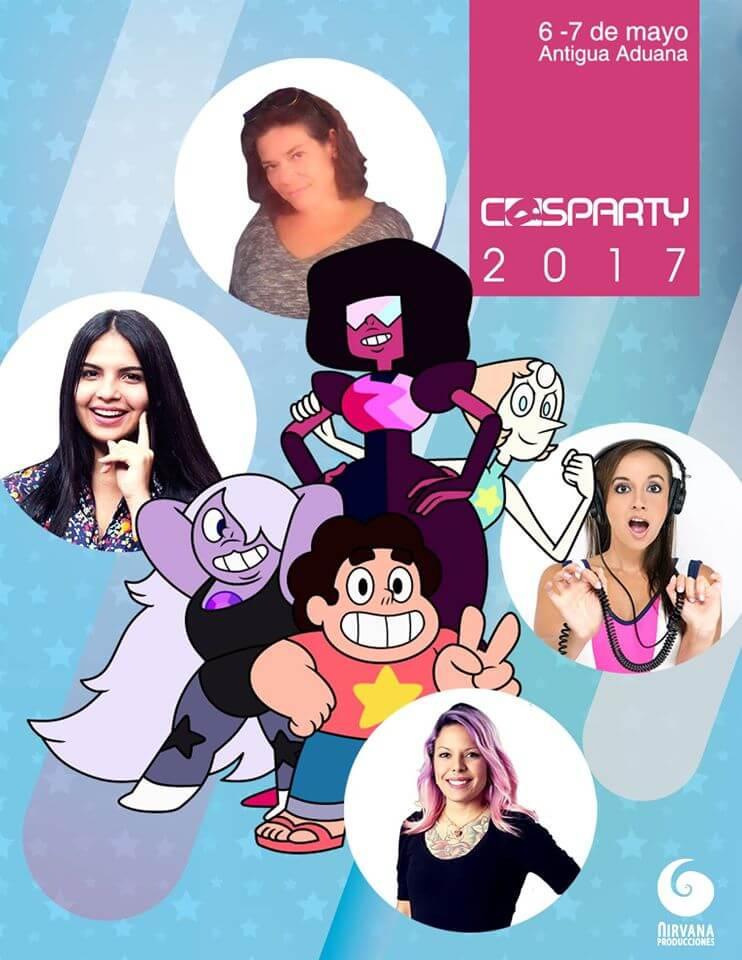 cosparty 2017 - actricez de doblaje de steven universe