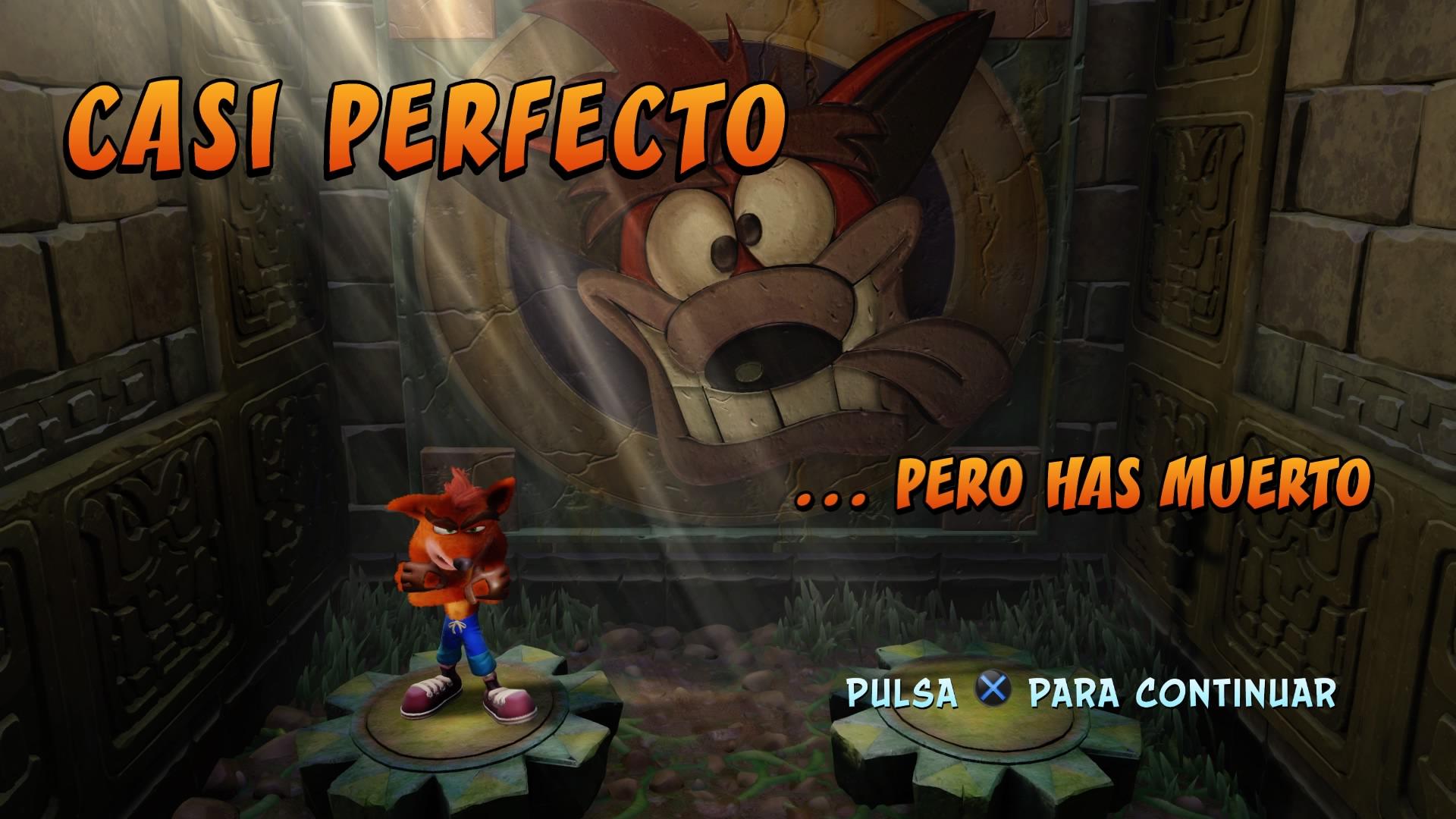 Crash Bandicoot N. Sane Trilogy casi perfecto