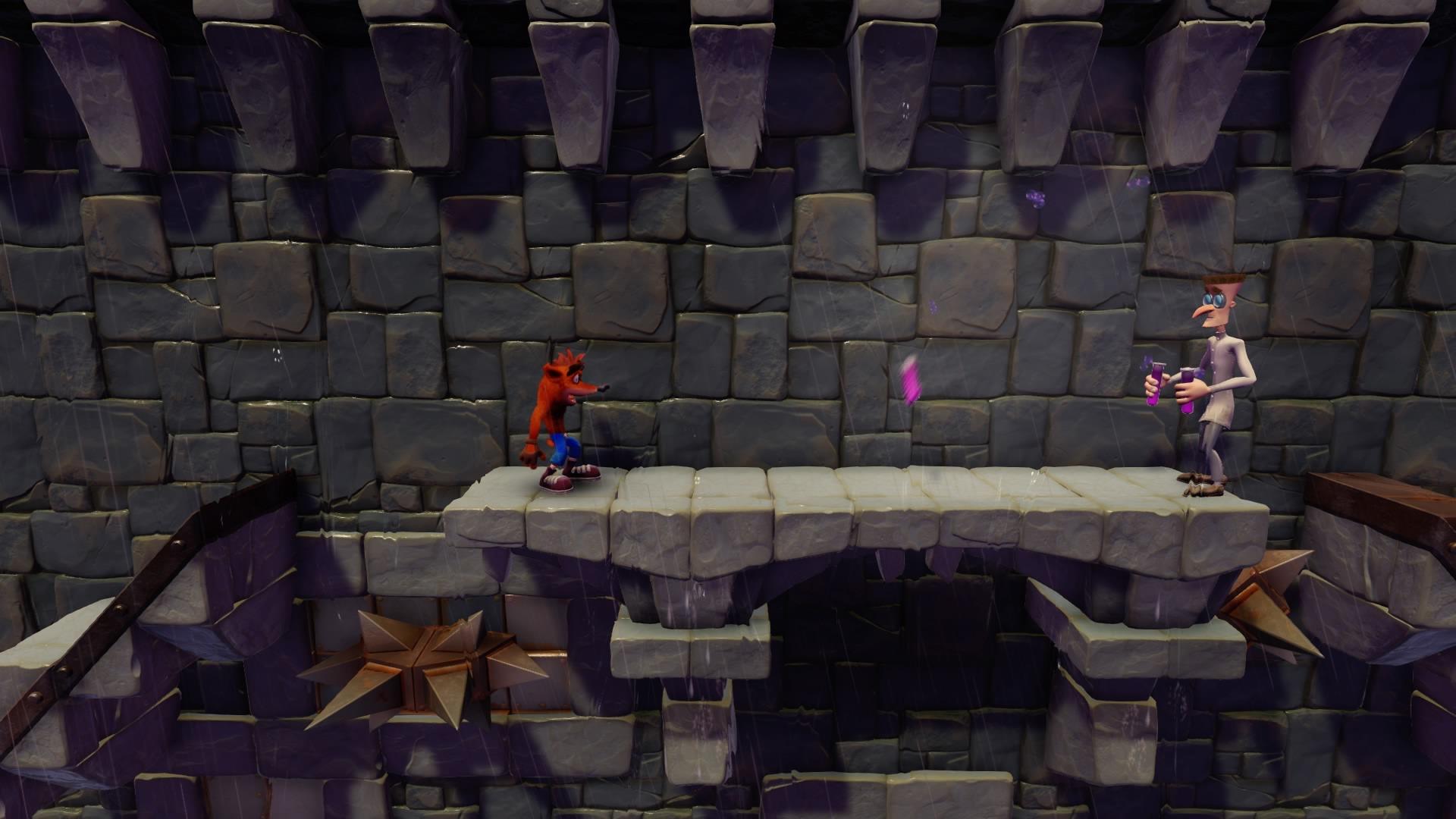 Crash Bandicoot N. Sane Trilogy - crash contra cientifico